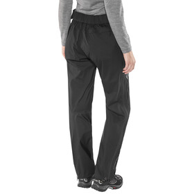 Black Diamond Stormline Pantalones de Lluvia Stretch Cremallera Completa Mujer, black